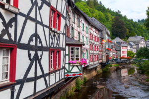 Monschau beautiful village on our bike tour