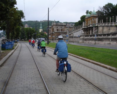 cycling through budapest danube
